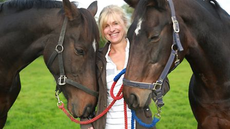 Danielle Mullen and her horses Chabade and Hesivorthedriver