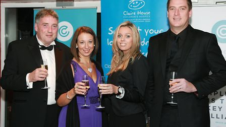 Claire House Area Fund-raising Manager, Abi Smith and husband, Peter, with Katherine Owen and Matt B