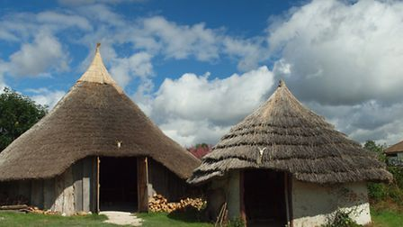 Replica Iron Age roundhouse at Butser Ancient Farm