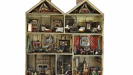 The doll's house open