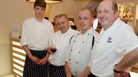 Chefs and staff at Chez Vous