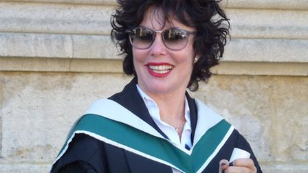Ruby Wax graduates from Oxford University's Kellogg College, with a master's degree in mindfulness-b