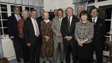 Lord Lieutenant David Briggs, High Sheriff Martin Beaumont with Frank Harding surrounded by past Hig