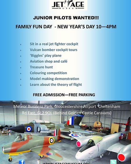 Family Fun Day on New Year's Day is an opportunity for junior pilots to sit in a jet fighter cockpit