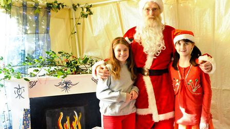 Father Christmas paid the fair a visit!