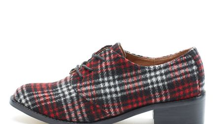 This plaid brogue, £55 from Bank, stays just the right side of the Bay City Rollers to be wearable