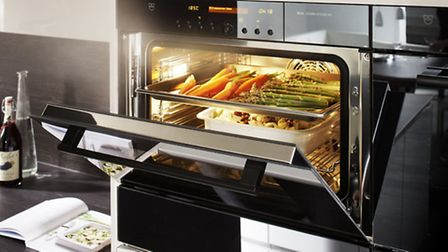 The V-Zug Comi Steam oven compliments a state-of-the-art kitchen designed by Bower Willis Designs