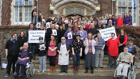 Staff, guests and volunteers at Hannahs celebrate four years