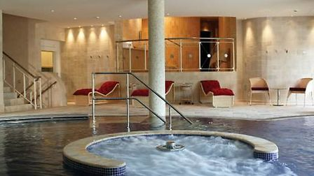 The hypdrotherapy pool at Whatley Manor spa
