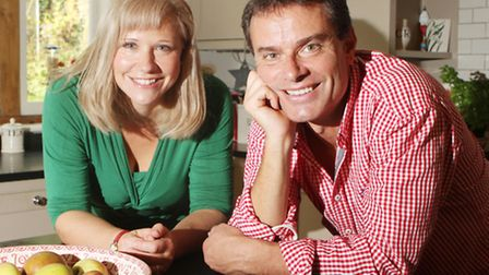 Craig Ogden with his wife Claire Bradshaw at thier home near Chipping Norton
