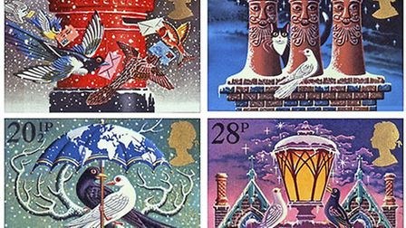 Christmas stamp designs by Tony Meeuwissen