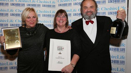 The Cheshire Life Food Hero of the Year was won by Julian and Anna Price from Pig and Co. Here they