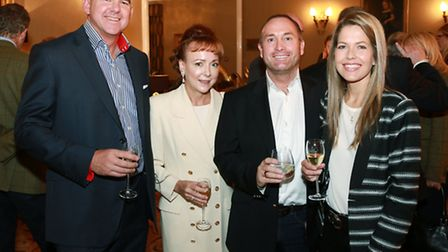 Neil and Mel Clarkson with Tim Holt and Lisa Benson