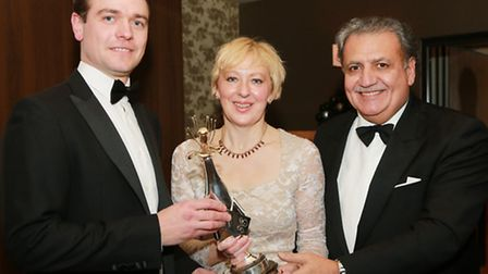 Moet Brand Ambassador Tom McAllister with Cheshire Life Editor, Louise Taylor and Manager of the Al