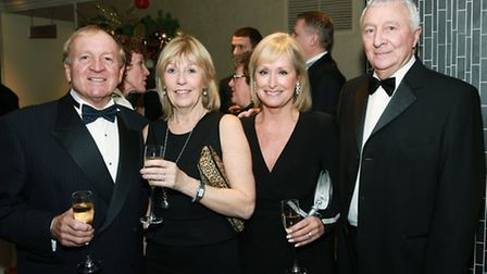 Francis and Gill Lee with Tina and Mike Summerbee