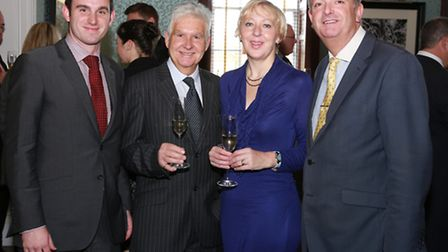 Mottram Hall's Meeting and Events Manager, Mark Spanton with Ray King, Louise Taylor and Managing D