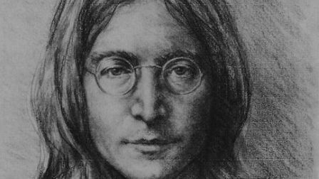 John Lennon sketch by Gill Andrae-Reid (Courtesy of Esher Fine Art)