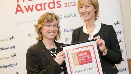 Tracy and Jo from Holmes Chapel with their prestigious business award