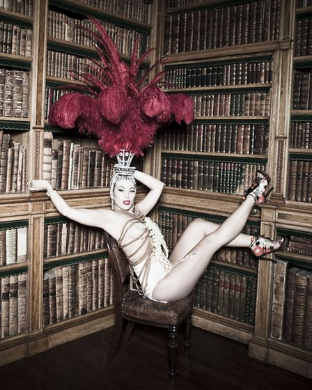 Leading burlesque artist, Modesty Blaize, who will be headlining the Burlesque Valentine's Ball