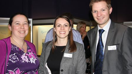 From left, Lina Simmonds, Emma Rule and Peter Baretto (all Bishop Fleming Chartered Accountants)