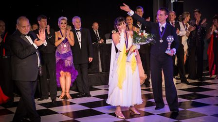 Vicki Stockman and Jamie Sloan announced winners of Strictly St. Rocco's 2013