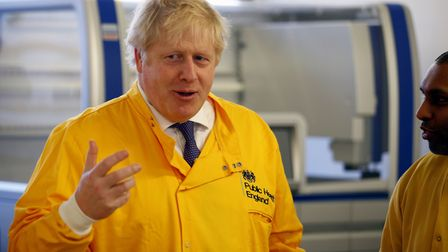 Prime Minister Boris Johnson visits a laboratory