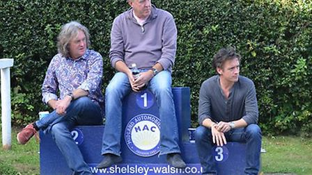 The Top Gear presenters at Shelsley Walsh