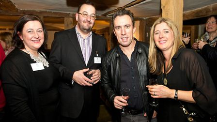 John and Anna Turner of Little Dudley House pictured with Christian O'Connell of Absolute Radio with