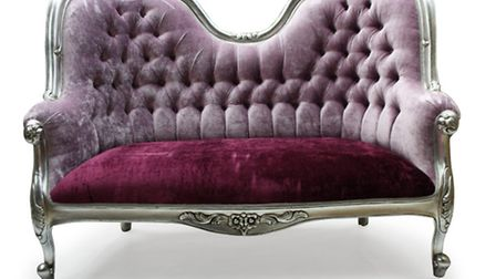 Create the Wow factor with this classic French style two-seater chair finished in opulent silver lea