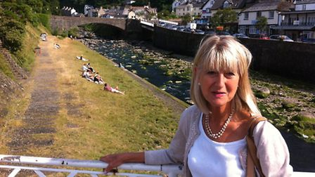 Janey Fraser visiting Lynmouth for inspiration