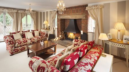 the light-filled drawing room has a real fire for cosy evenings