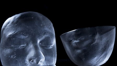 A glass mask of Ben Walters' younger self