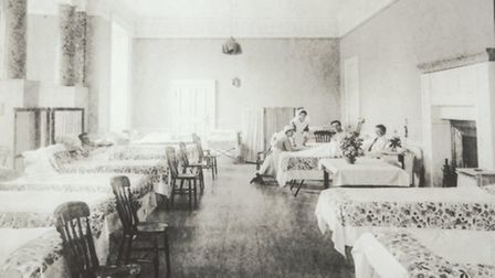 The Saloon as the main ward at the Stamford Military Hospital c NT