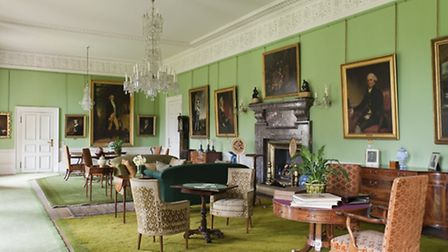 Dunham Massey's Saloon as it usually appears c National Trust