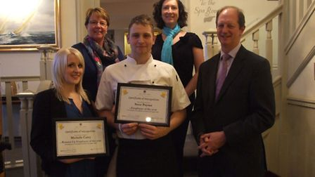 From left - right: Michelle Carey - Sales & Marketing Manager - Runner up Employee of The Year, Caro