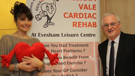 Patron Sally Bee with Gerry O'Donnell from Evesham Cardiac Rehab