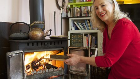 Gay Cossins at her eco-friendly home in Steyning