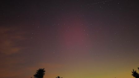 The Northern Lights as seen from Chobham Common