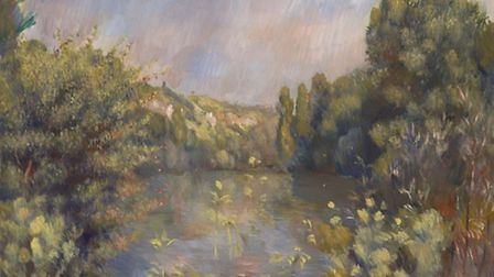 Lakeside Landscape by Pierre-Auguste Renoir - The National Gallery, London. Bequeathed by Helena and