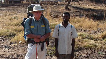 David Lemon (left) on an expedition in Africa