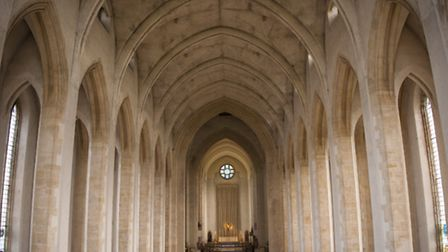 The stunning interior of Guildford Cathedral