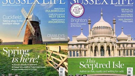 Sussex Life March 2014 front covers