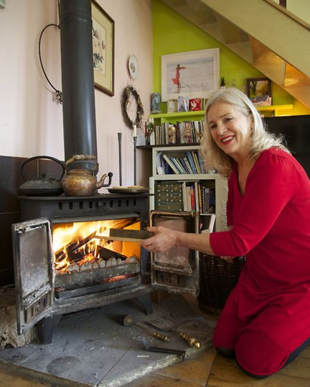 Gay Cossins at her eco-friendly home in Steyning. Credit: Kate Eastman