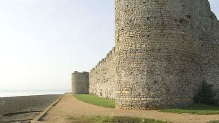 Bastions on the curtain wall. Credit: English Heritage Photo Library