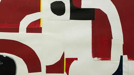 Robert Manners, Where Red Meets White, (Seascape Refit, Collage14) 2013