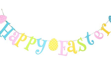 Couldn't say it better myself: happy easter felt egg bunting 6.75 from mygifttree.com