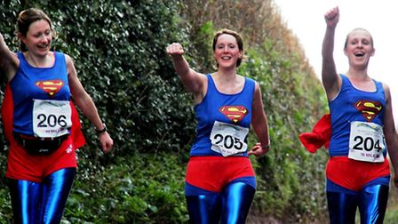 Dart Trail Superheroes running in the first ever charity foodie run
