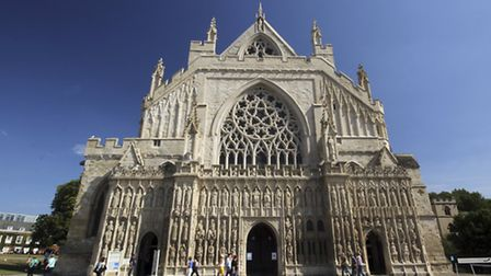 Exeter Cathedral's sculptures are featured in a new book by Alex Woodcock