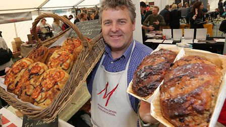 Learn from the best at the Exeter Food Festival; pictured here baking with Manna from Devon cookery