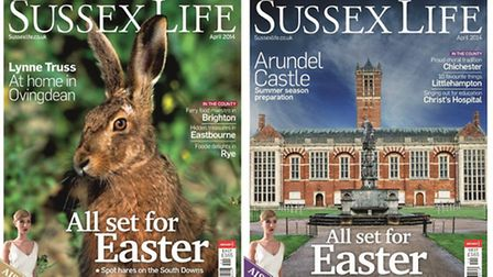Sussex Life April 2014 front covers